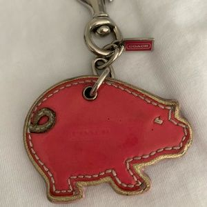Coach 💕 Leather Pig Key Chain!
